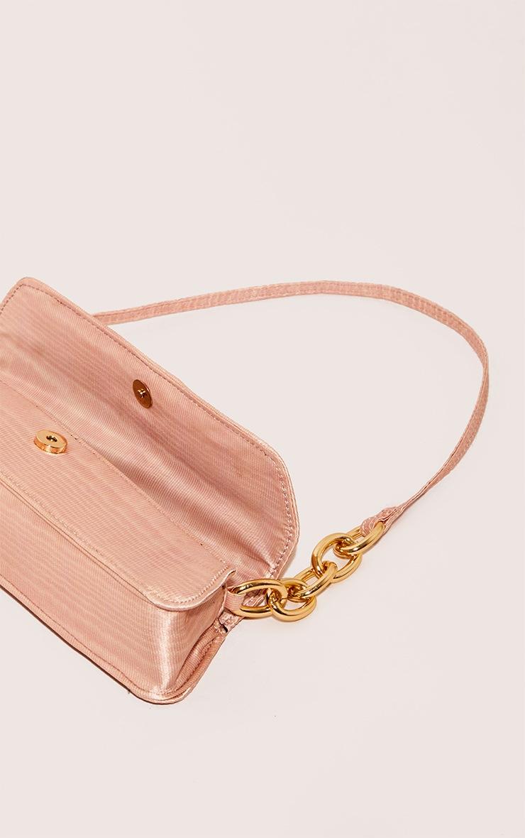 Pink Thin Baguette Bag 4