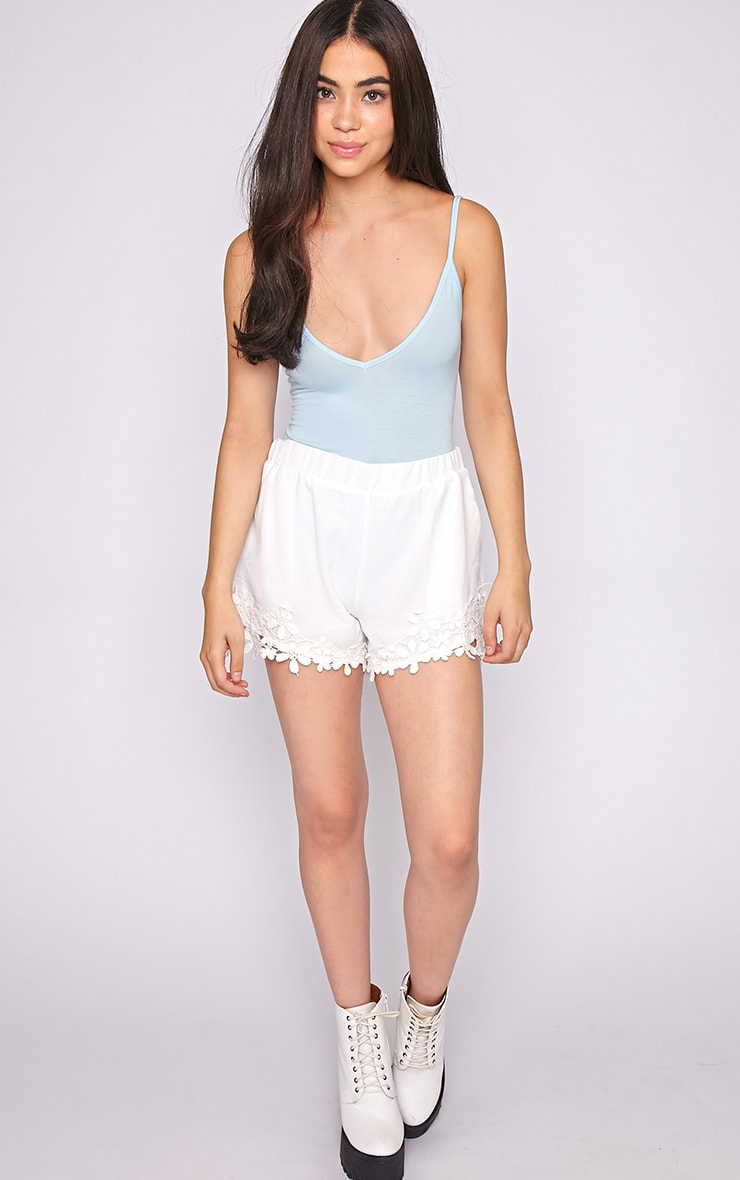 Lucy Blue V Front Bodysuit 3