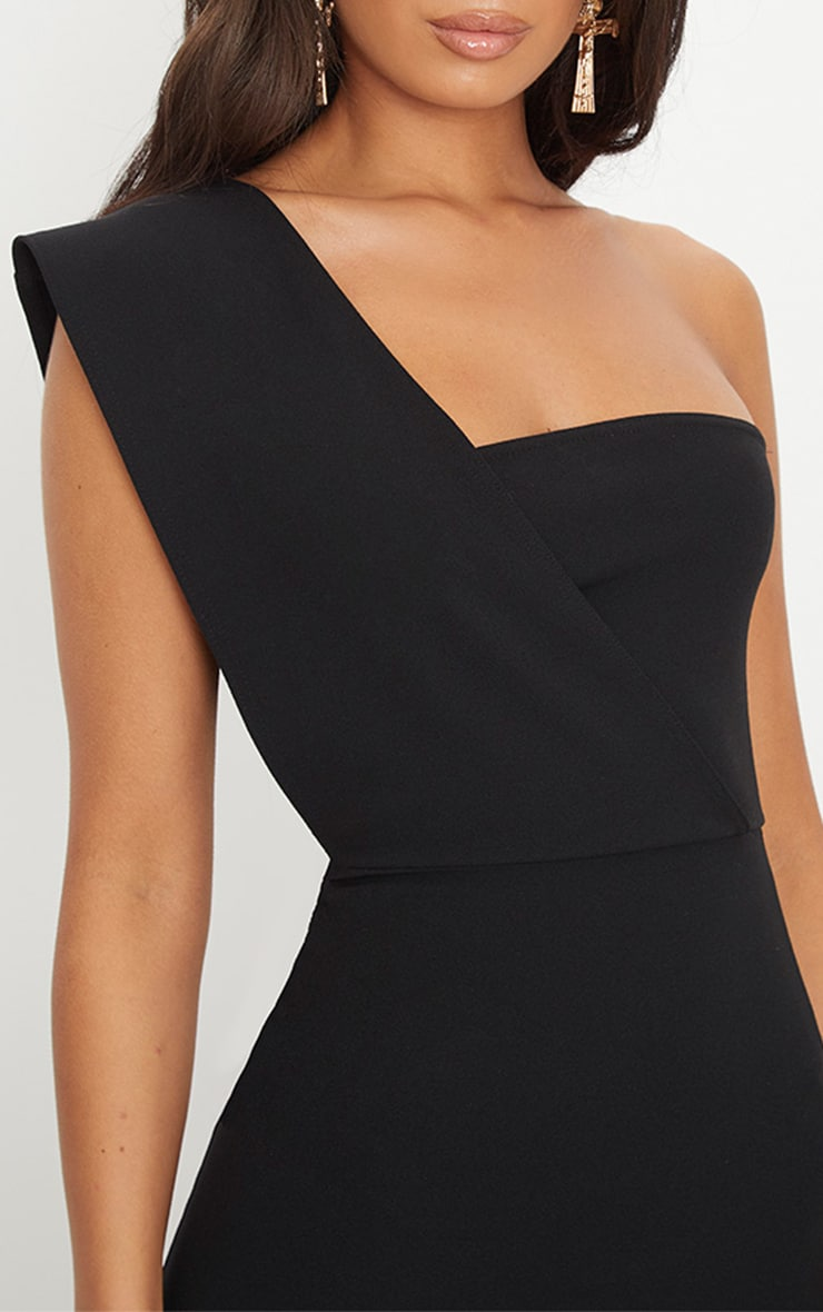 Black One Shoulder Maxi Dress 5