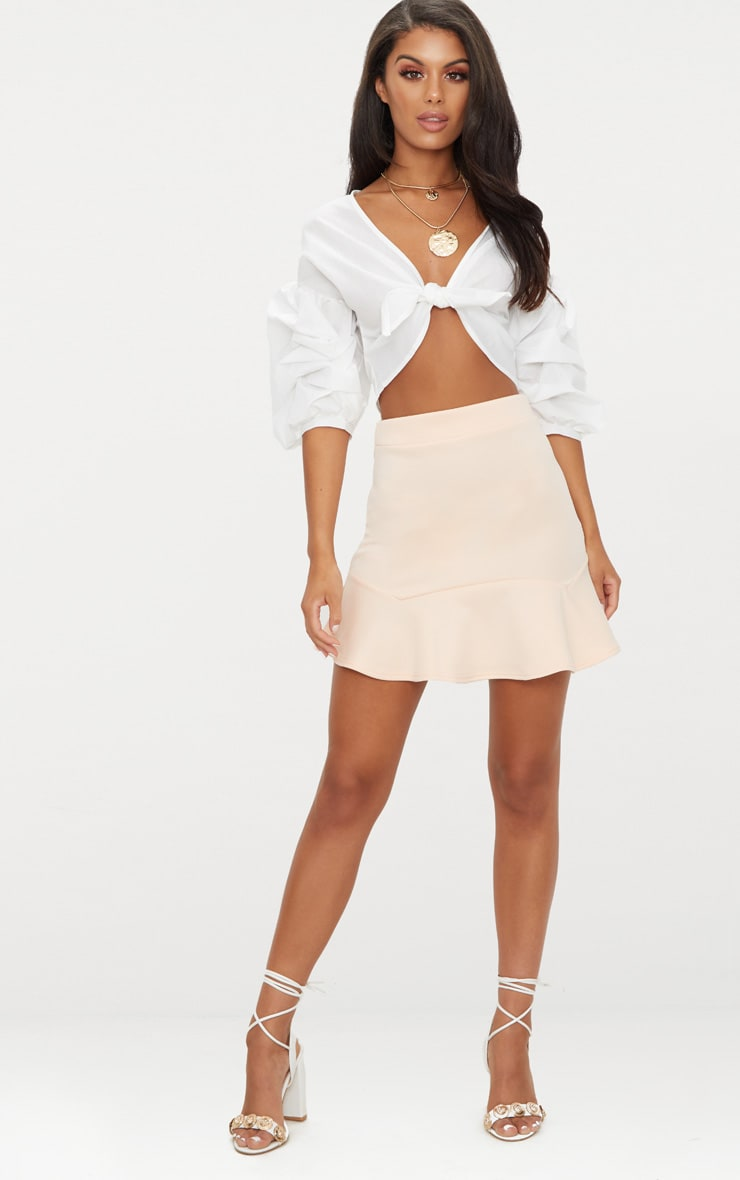 Nude Flippy Hem Mini Skirt 5