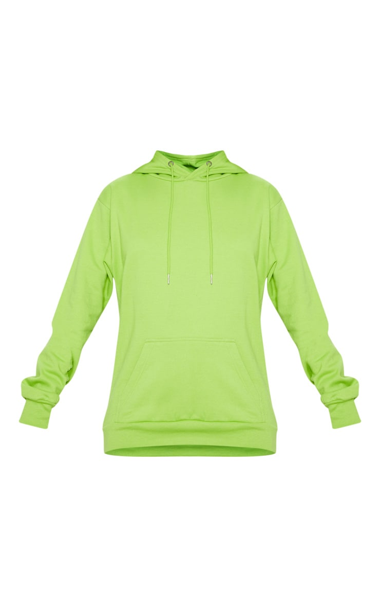 PRETTYLITTLETHING Lime Print Hoodie 3