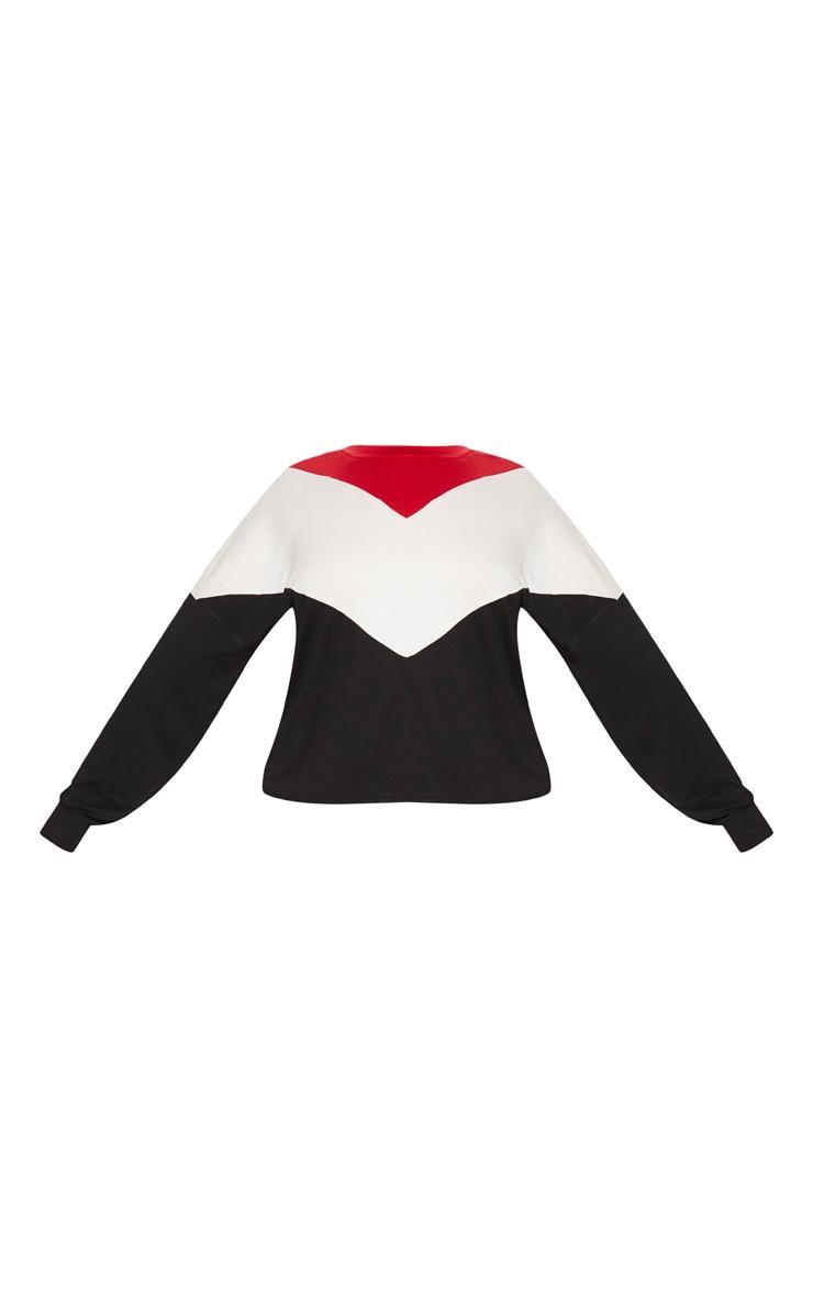Plus Black Chevron Jersey Long Sleeve Top 3