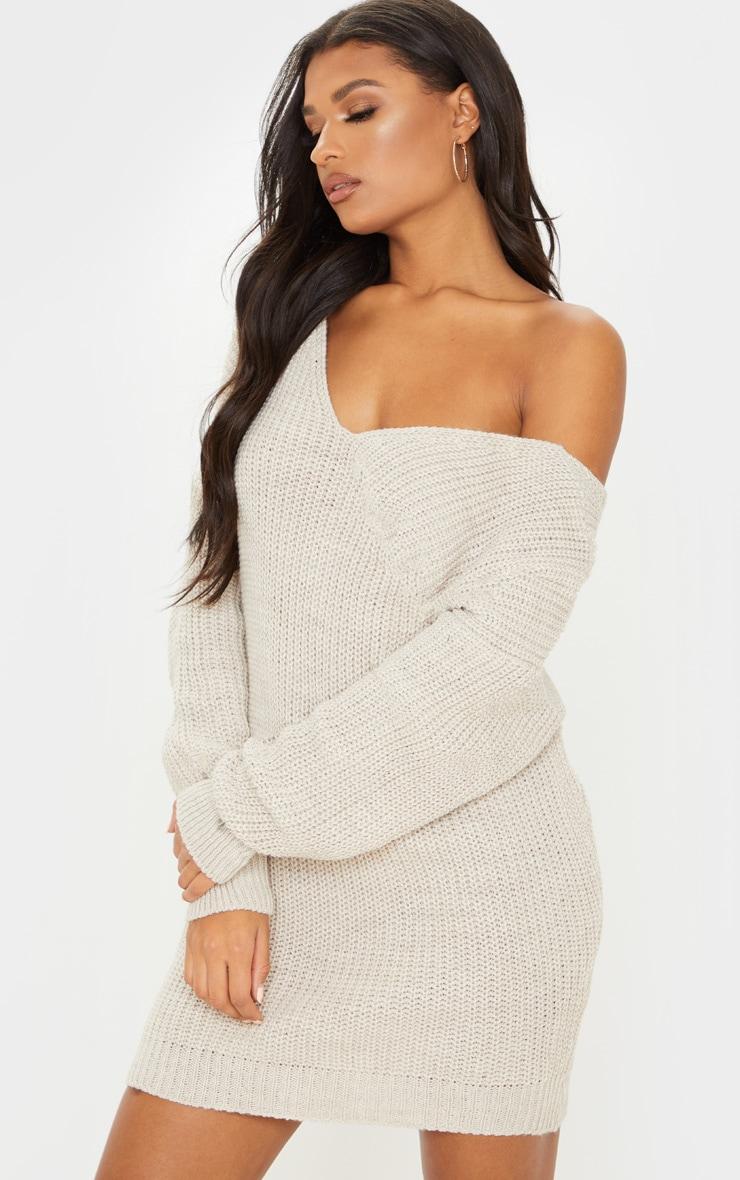 Stone Twist Back Sweater Dress 2