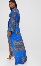 883e19aa3999 Cobalt Print Satin Kimono Maxi Dress. Dresses
