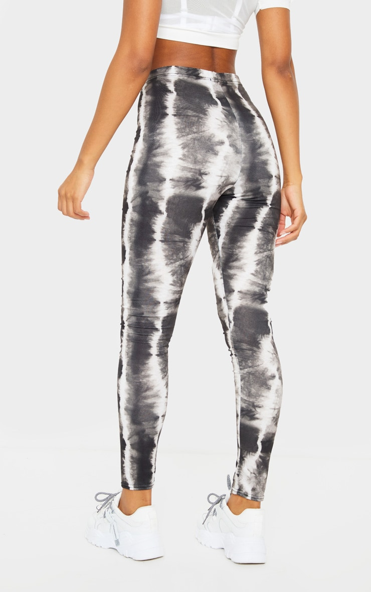 Black Tie Dye Print Leggings 3