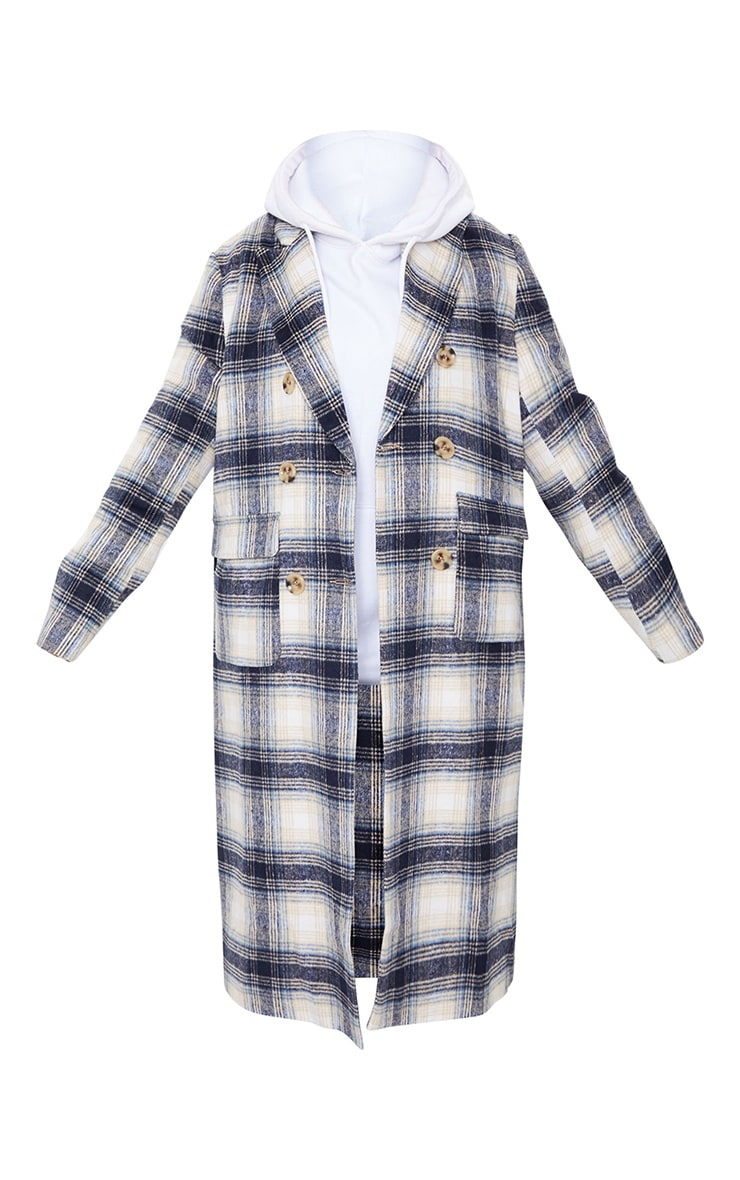 Blue Check Tortoise Mid Axis Coat 5