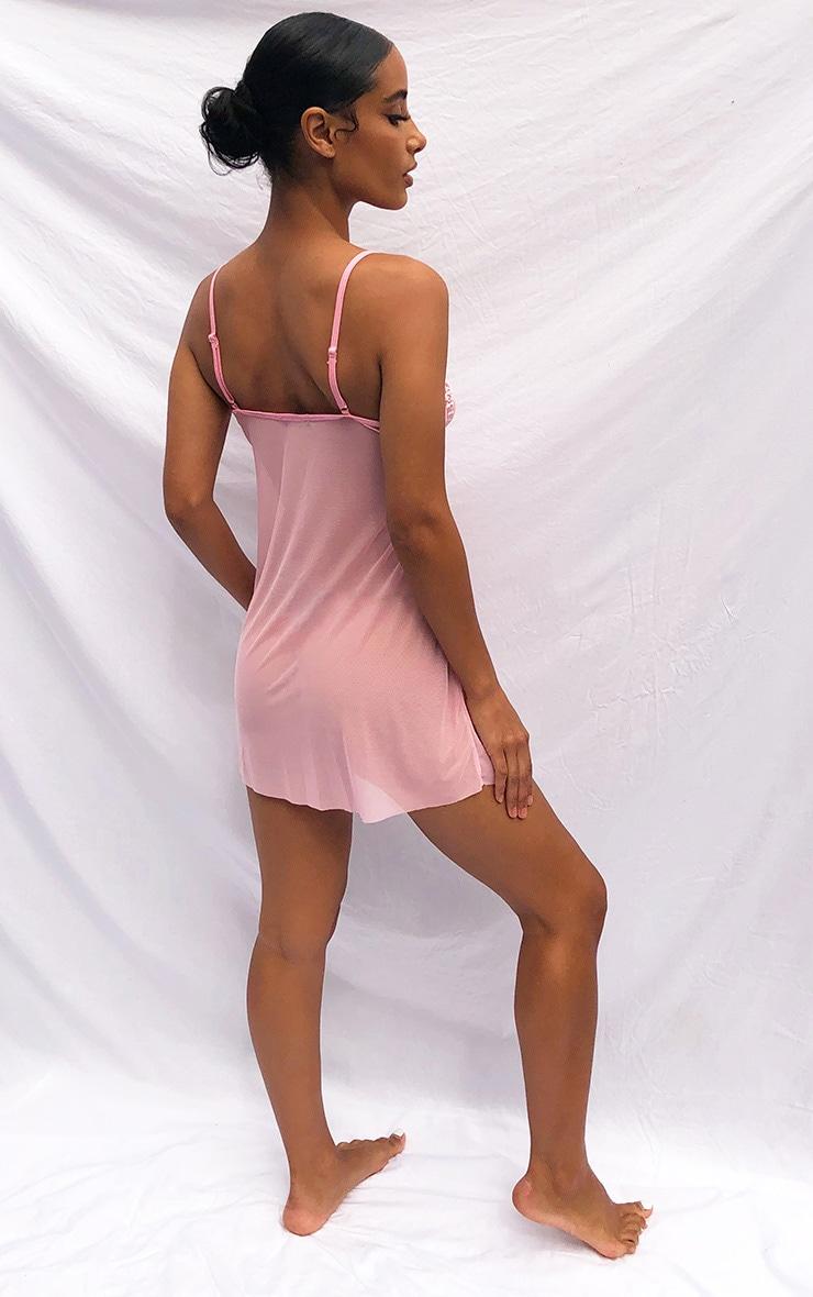 Nude Abstract Renaissance Printed Mesh Bodysuit