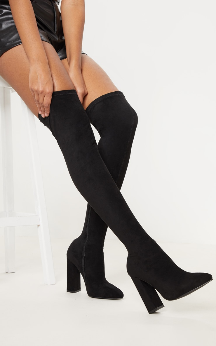 5bb8ea7cd0a Black Point Block Heel Over The Knee Boot image 1