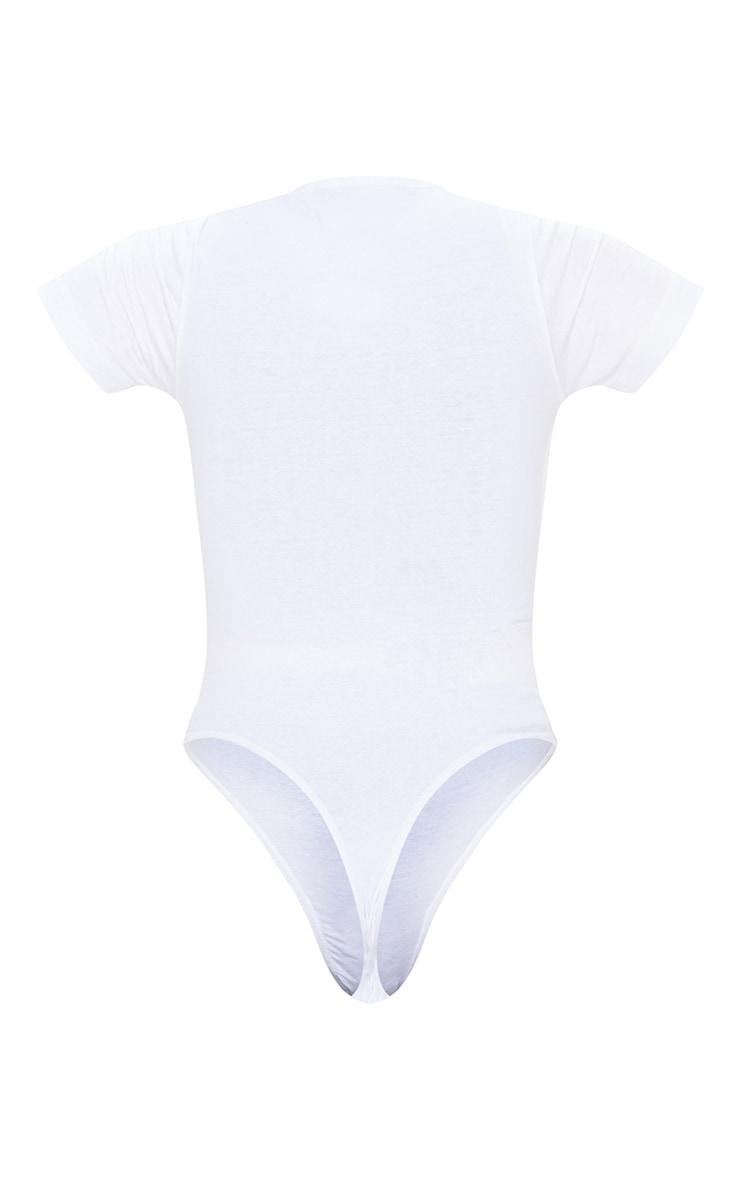 PRETTYLITTLETHING White Short Sleeve Bodysuit 6