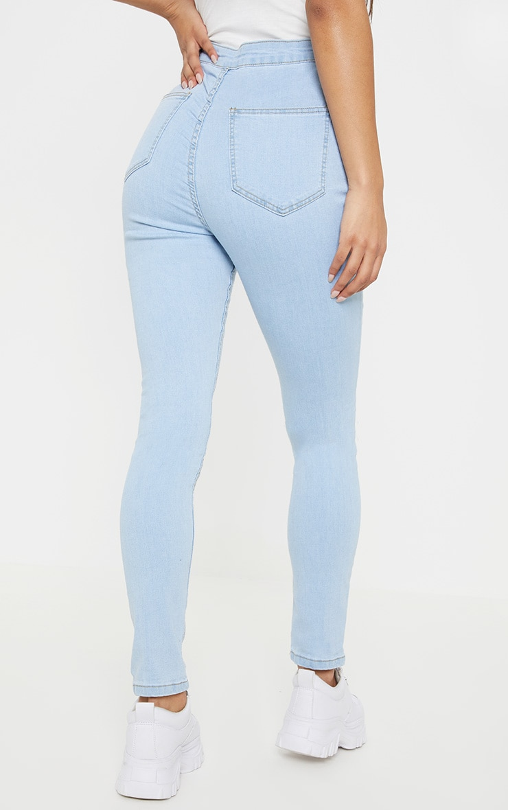 Light Wash Knee Rip Disco Skinny Jean 4