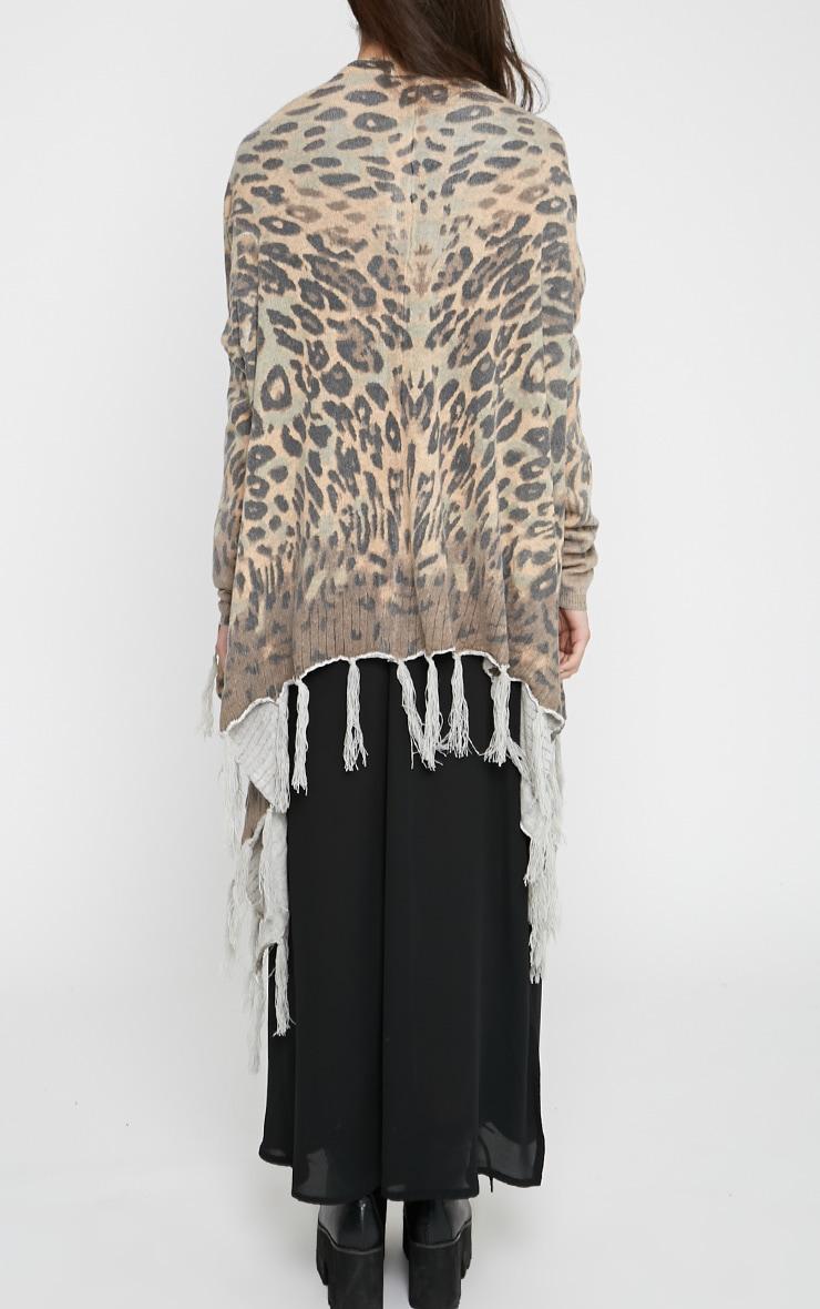 Leopard Tassel Drape Cardigan 2