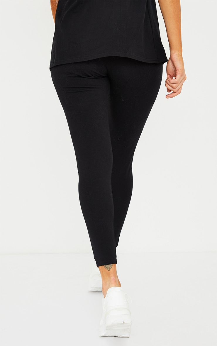 Maternity Black Bump Support Leggings 3