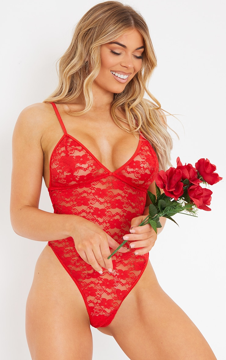 Red Basic Lace Body 1