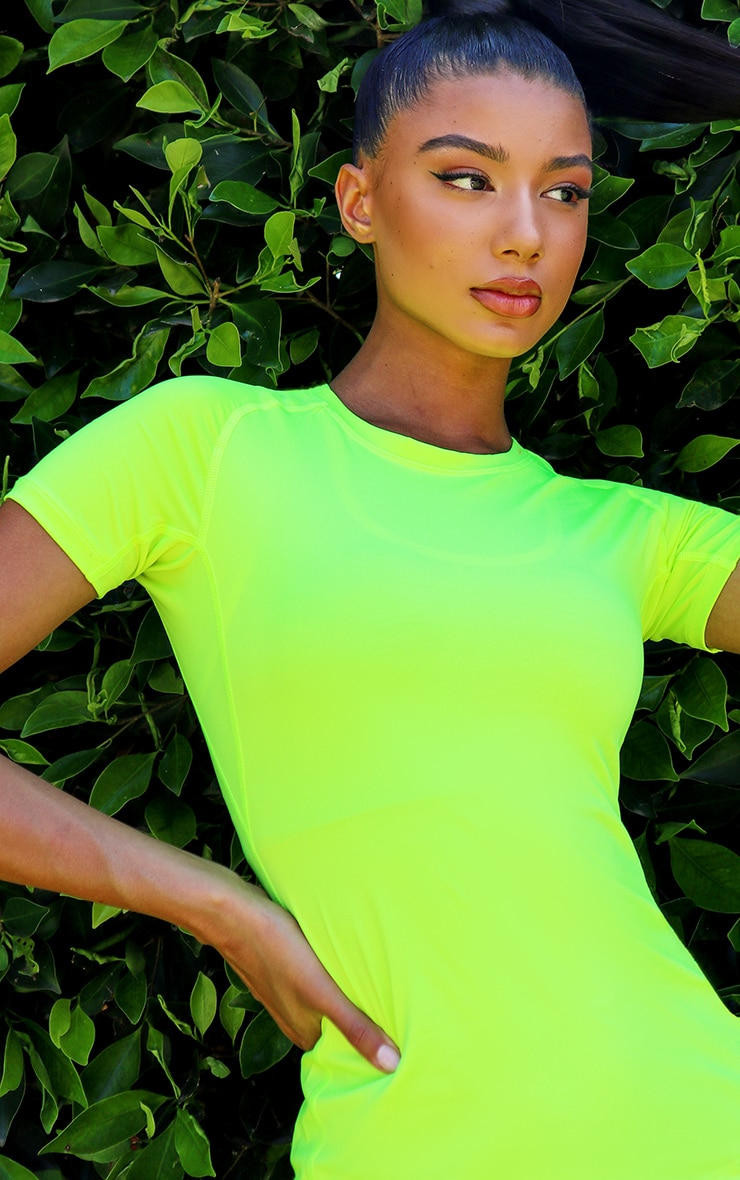 Lime Basic Fitted Gym Top 4