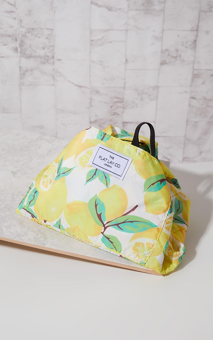 The Flat Lay Co Lemons Print Makeup Bag 1