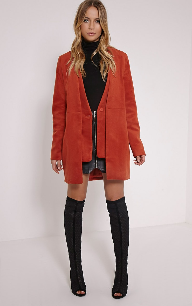 Louella Rust Double Oversized Coat 3