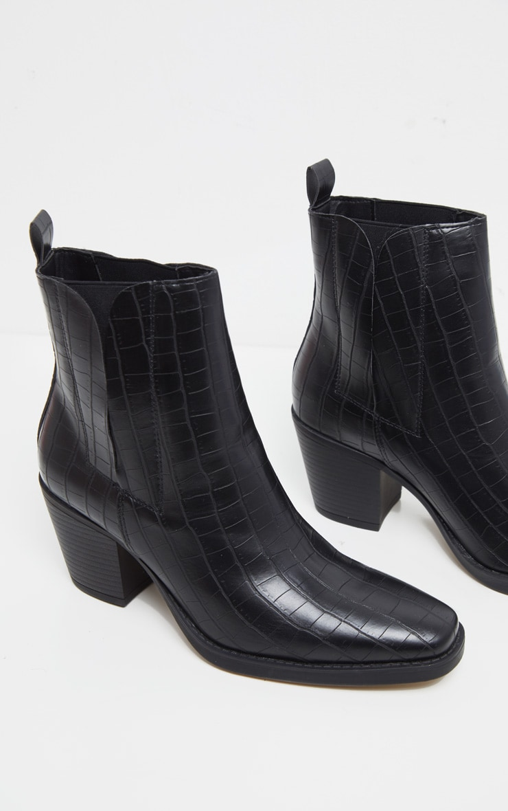 Black Ankle Western Boot 3