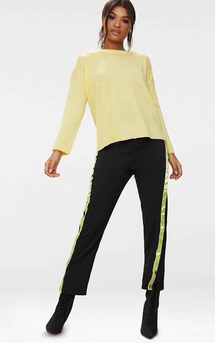 Yellow Lightweight Crew Neck Jumper 4