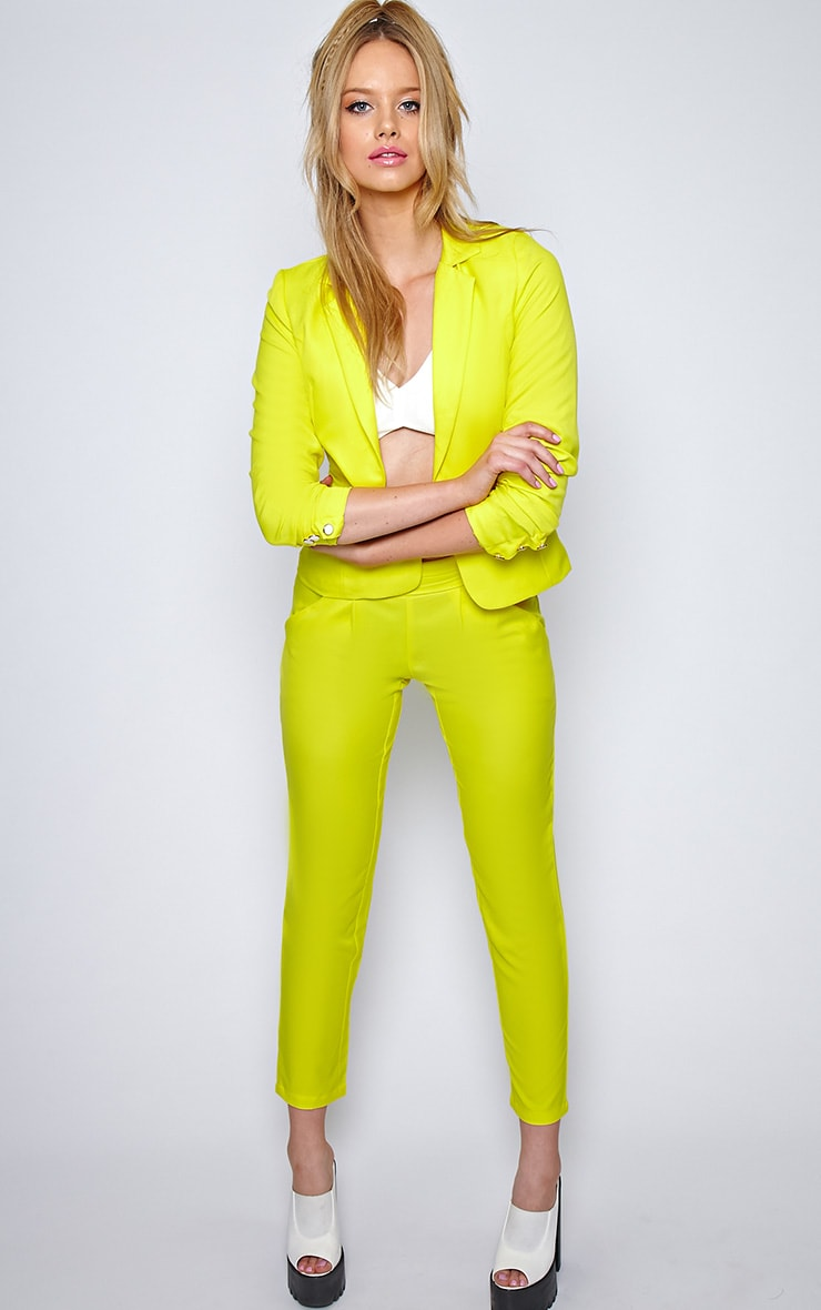 Ila Yellow Tailored Trouser And Blazer Suit Set 7