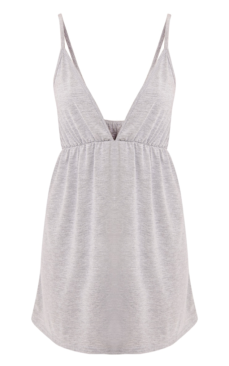 Corinia Ruched Grey Marl Jersey Swing Dress 3