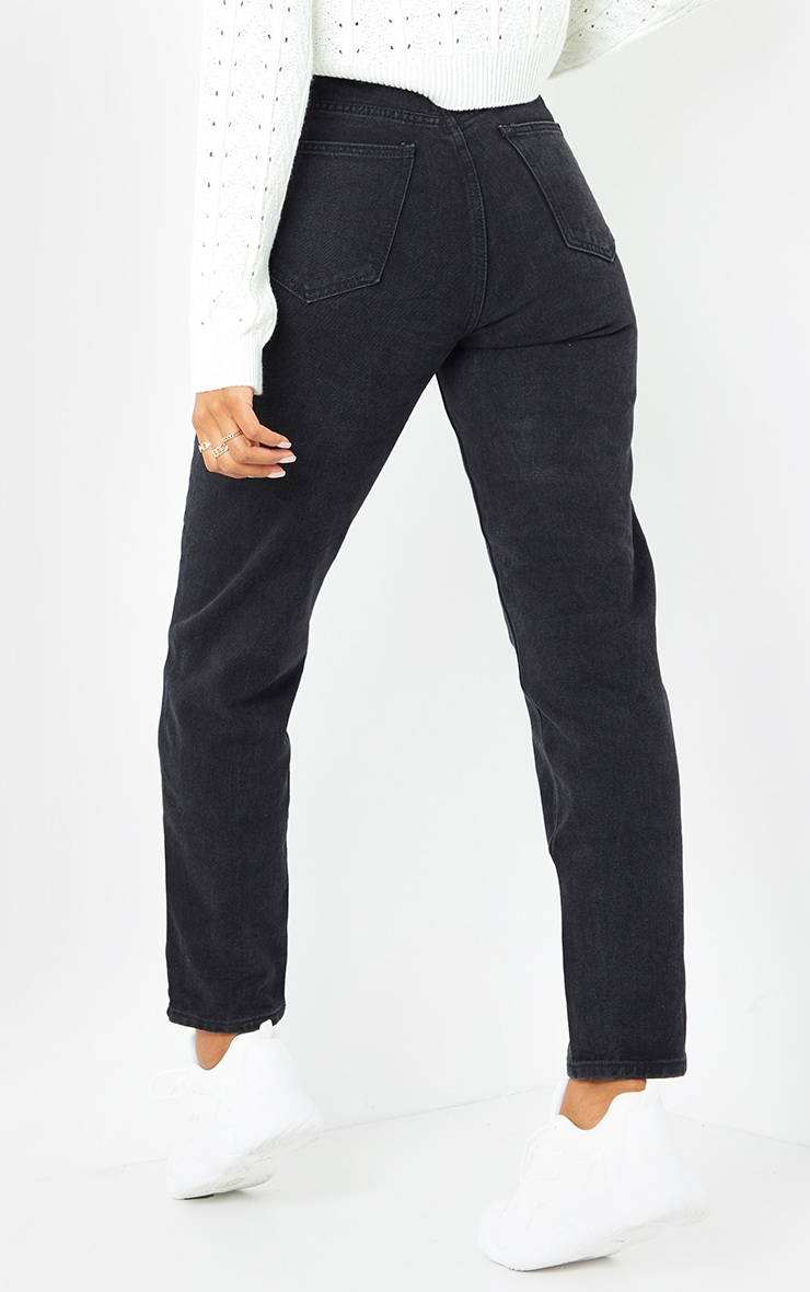 PRETTYLITTLETHING Black Mom Jean 3