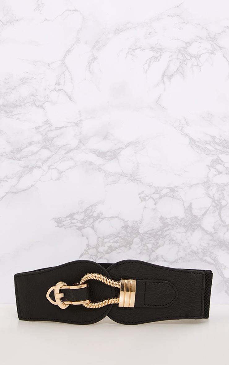 Naiho Black Hook & Buckle Waist Belt 4