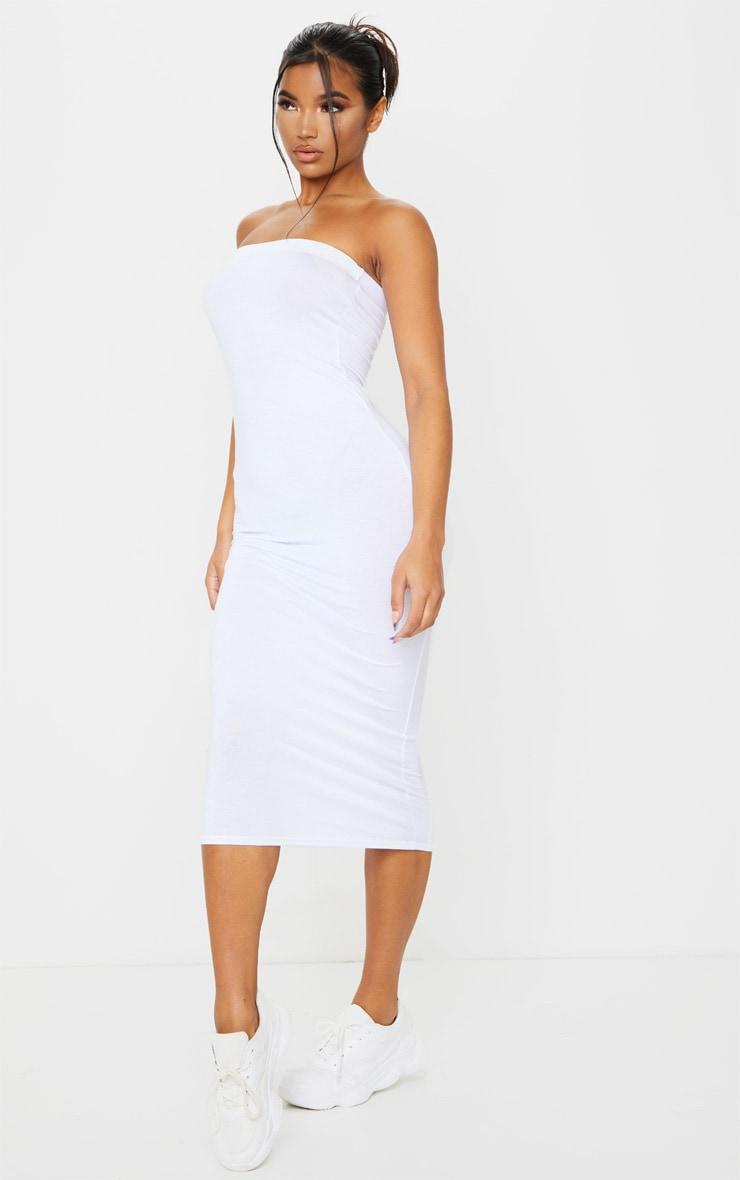 White Bandeau Maxi Dress 3