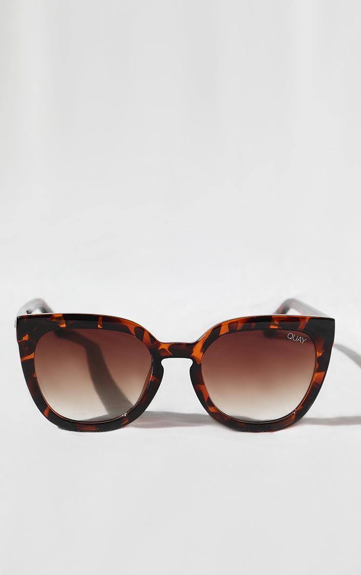 quay australia brown tortoise cat eye noosa sunglasses