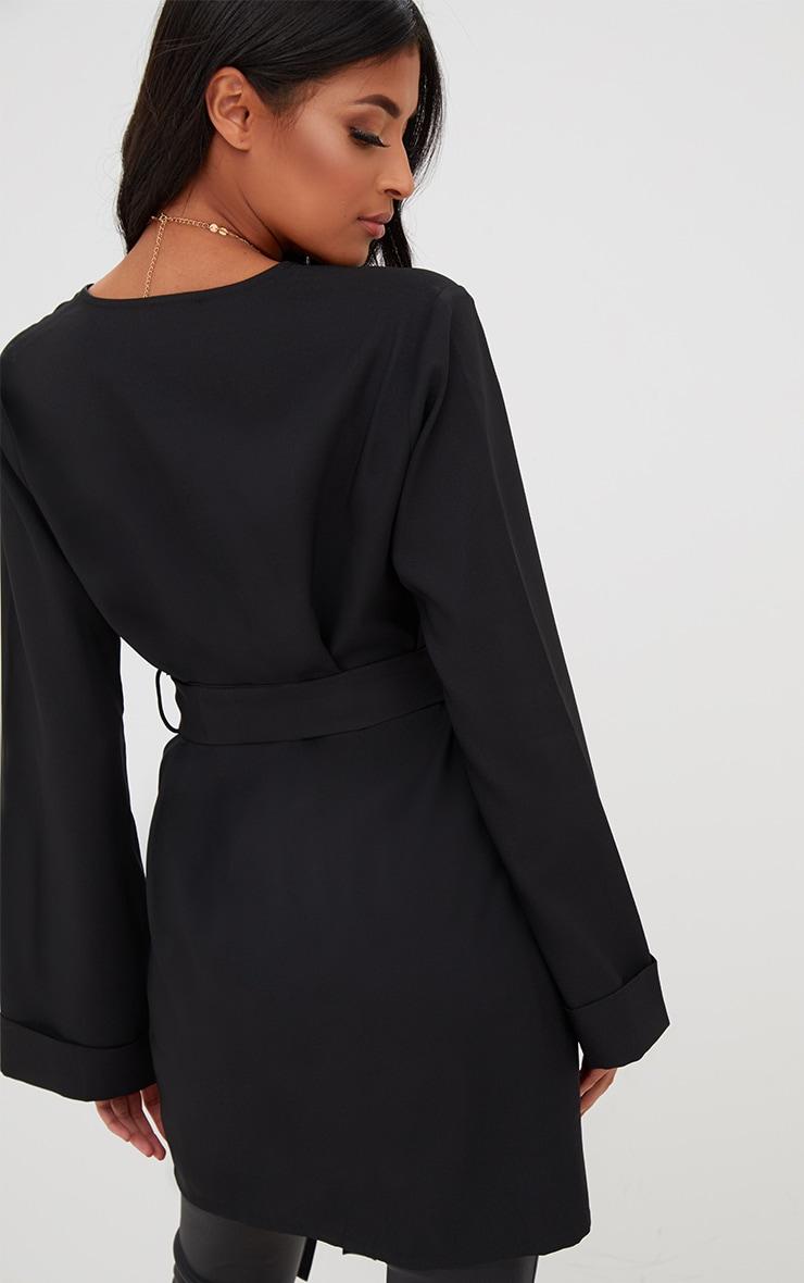 Black Oversized Longline Blazer 2