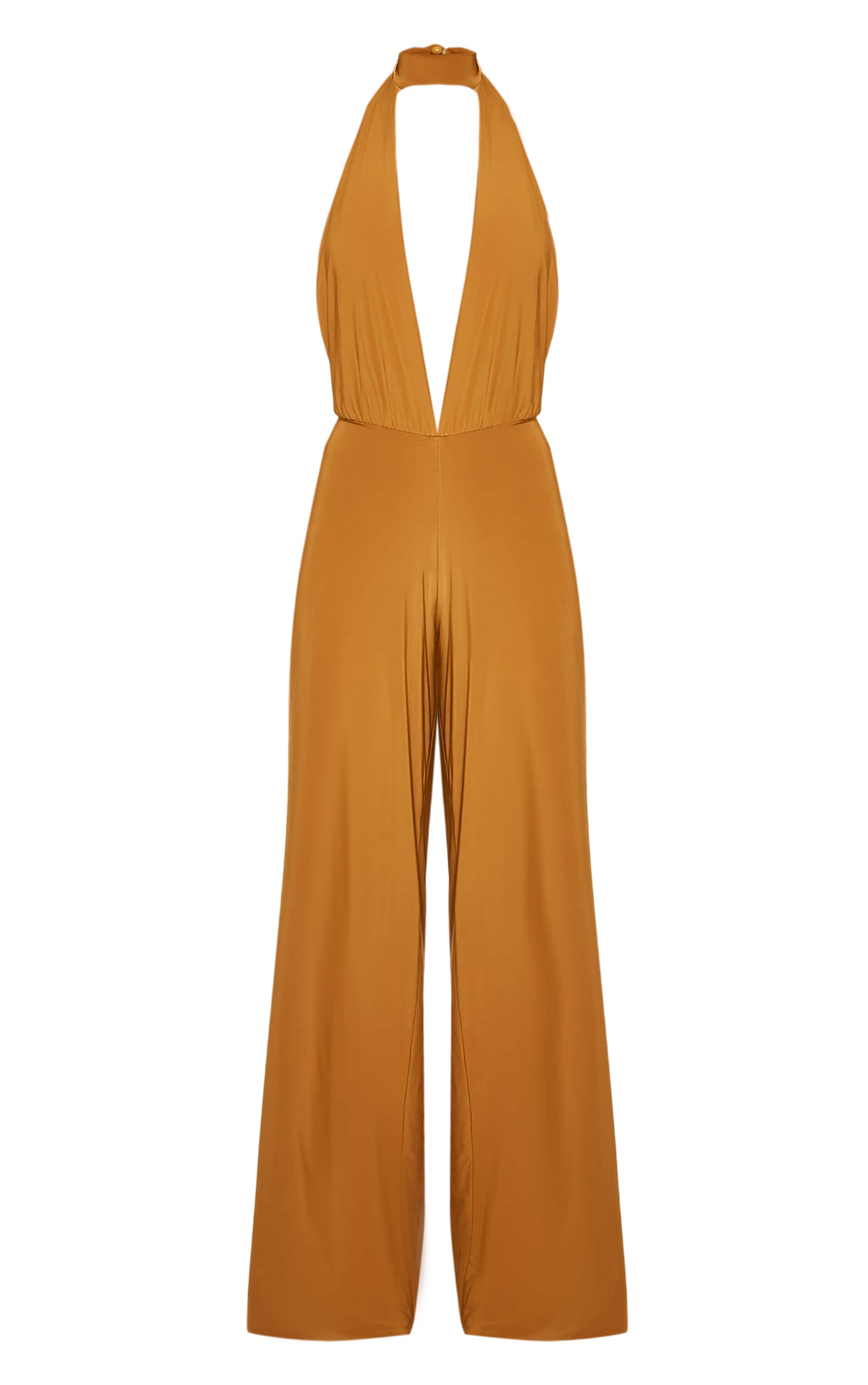 Laurie Gold Backless Choker Detail Slinky Jumpsuit 4