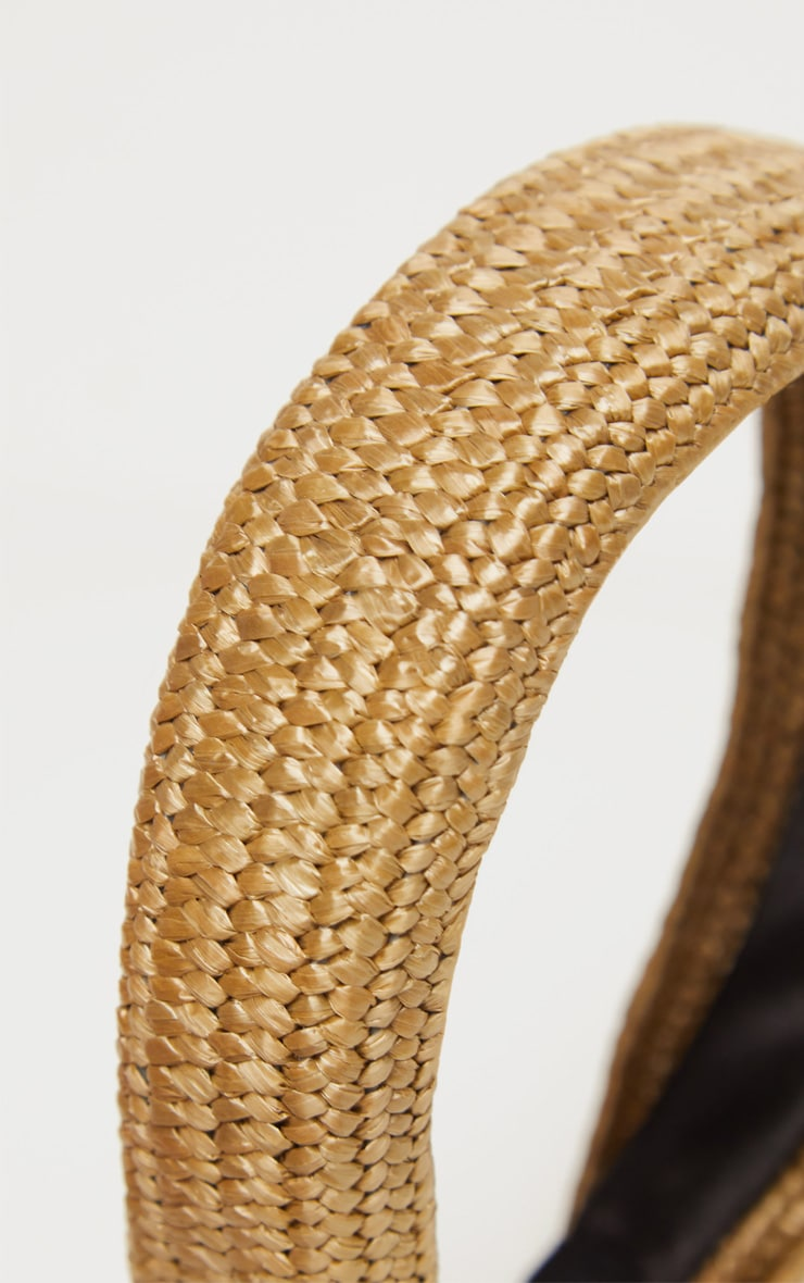 Natural Straw Effect Wide Headband 2