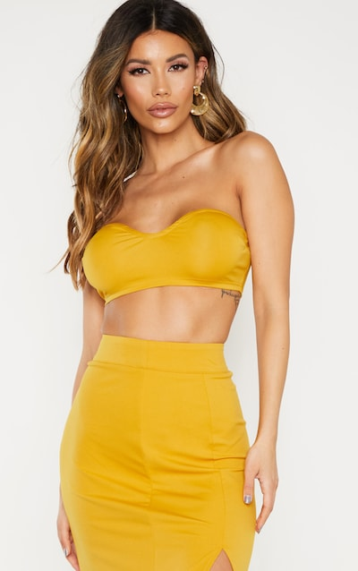 4dc6ab85ec Gold Bandeau Crop Top