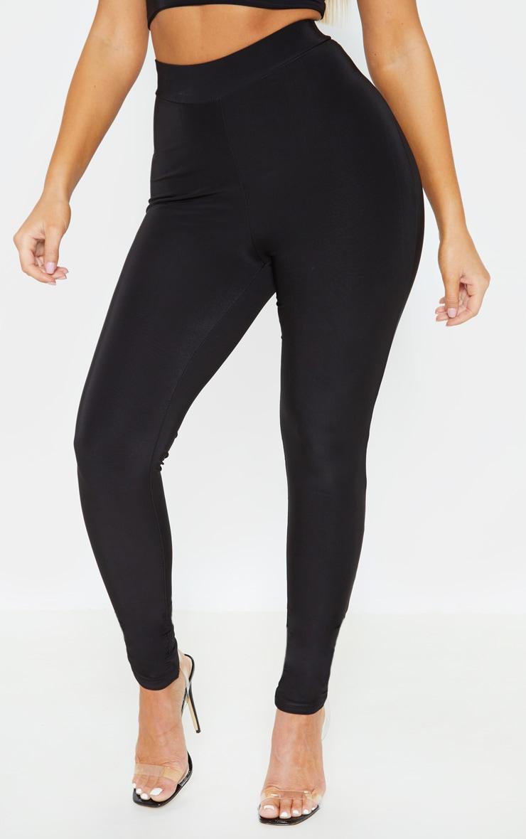 Black Ruched Bum Detail Legging 2
