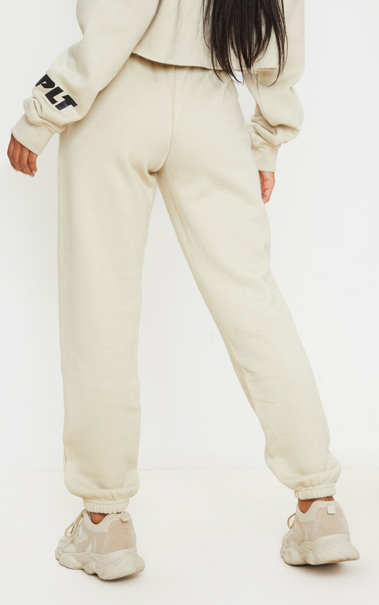 PRETTYLITTLETHING Sand New Season Graphic Joggers 3