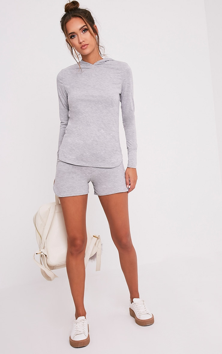 Basic short de course gris en jersey 6