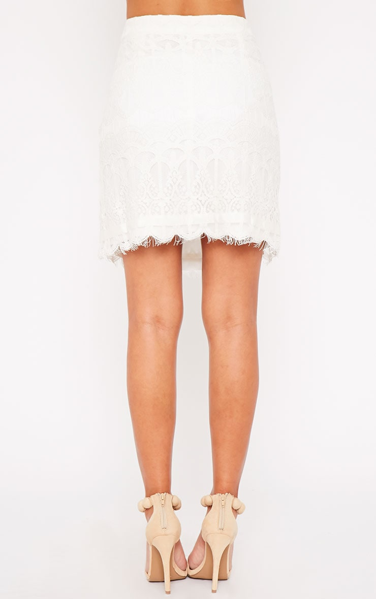 Linnea Cream Lace Skirt 5