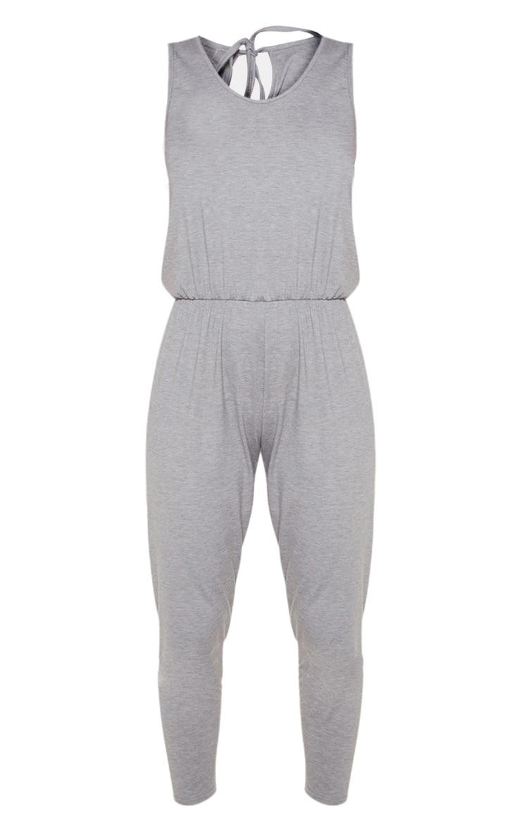 Grey Jersey Sleeveless Elasticated Waist Jumpsuit 3