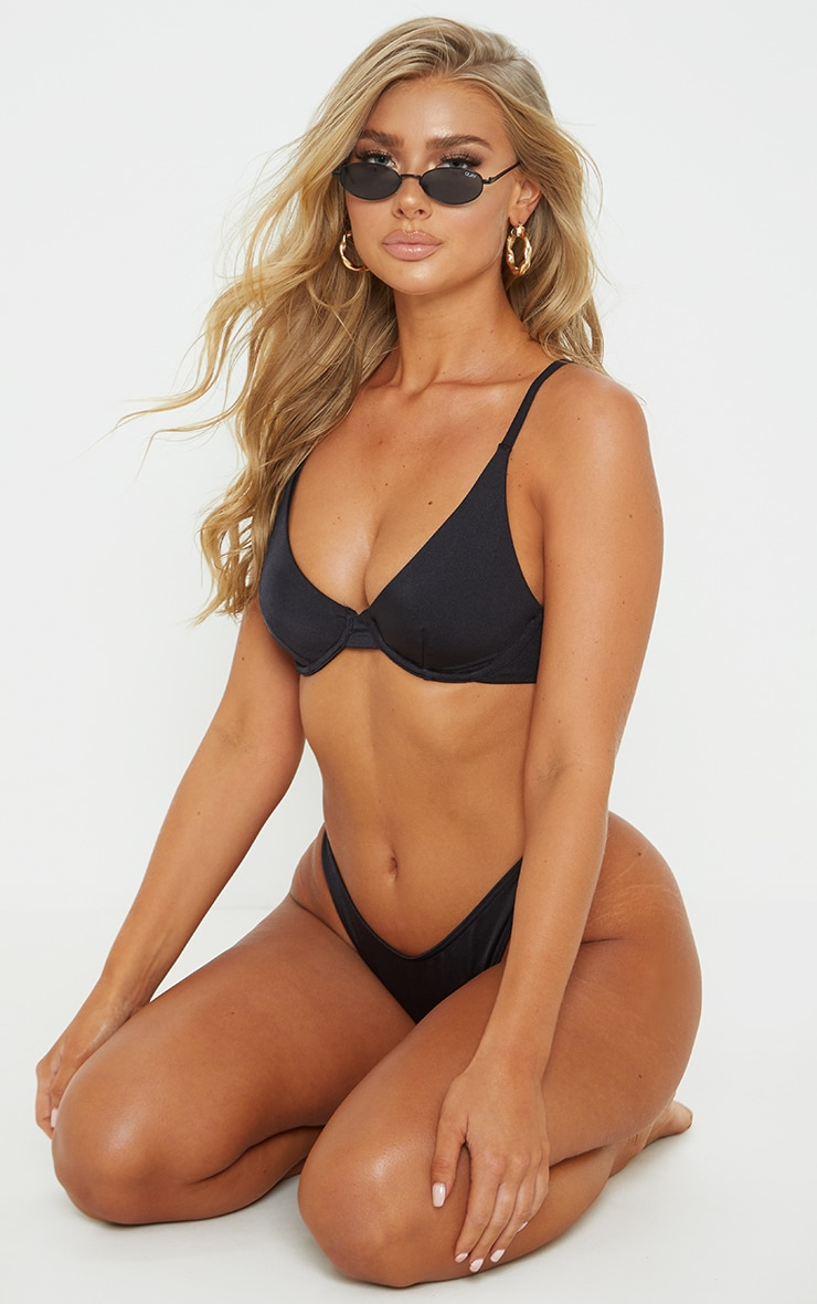 Black Mix & Match Underwired Bikini Top 4