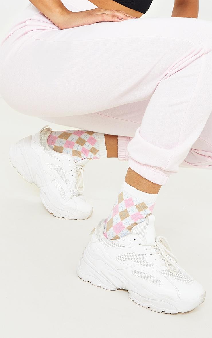 Pink Argyle Socks 2