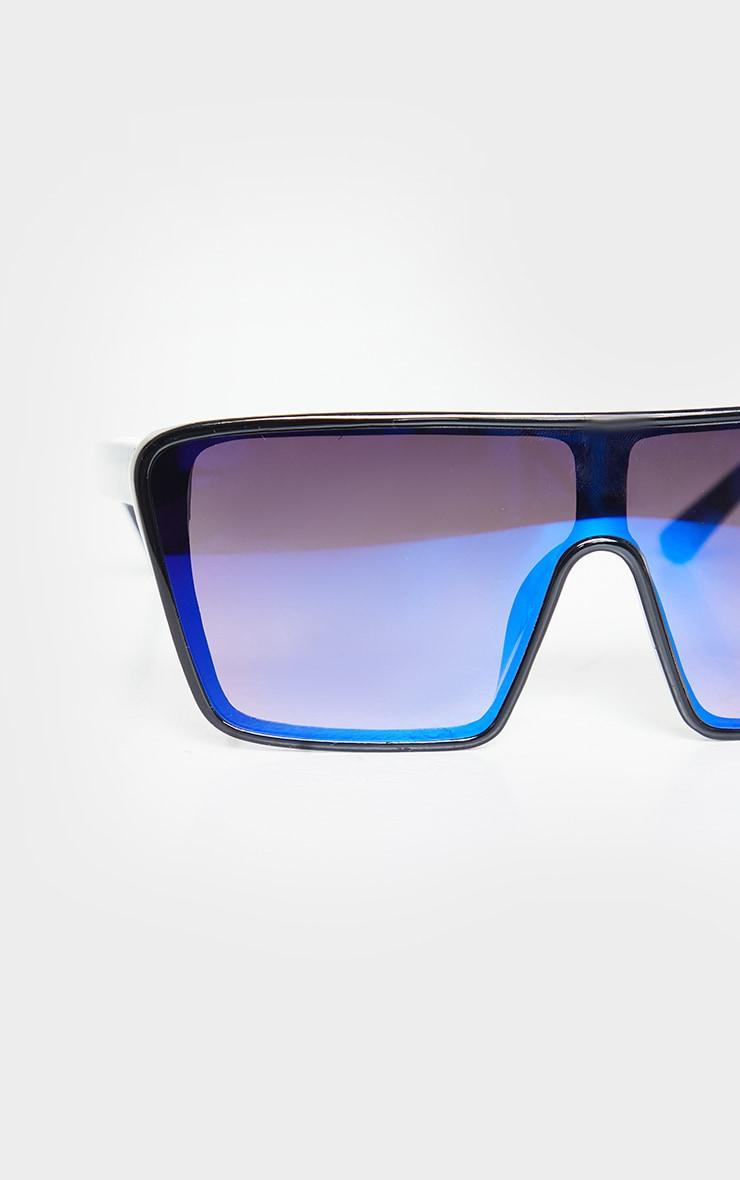 Blue Oversized Squareframe Sunglasses 2
