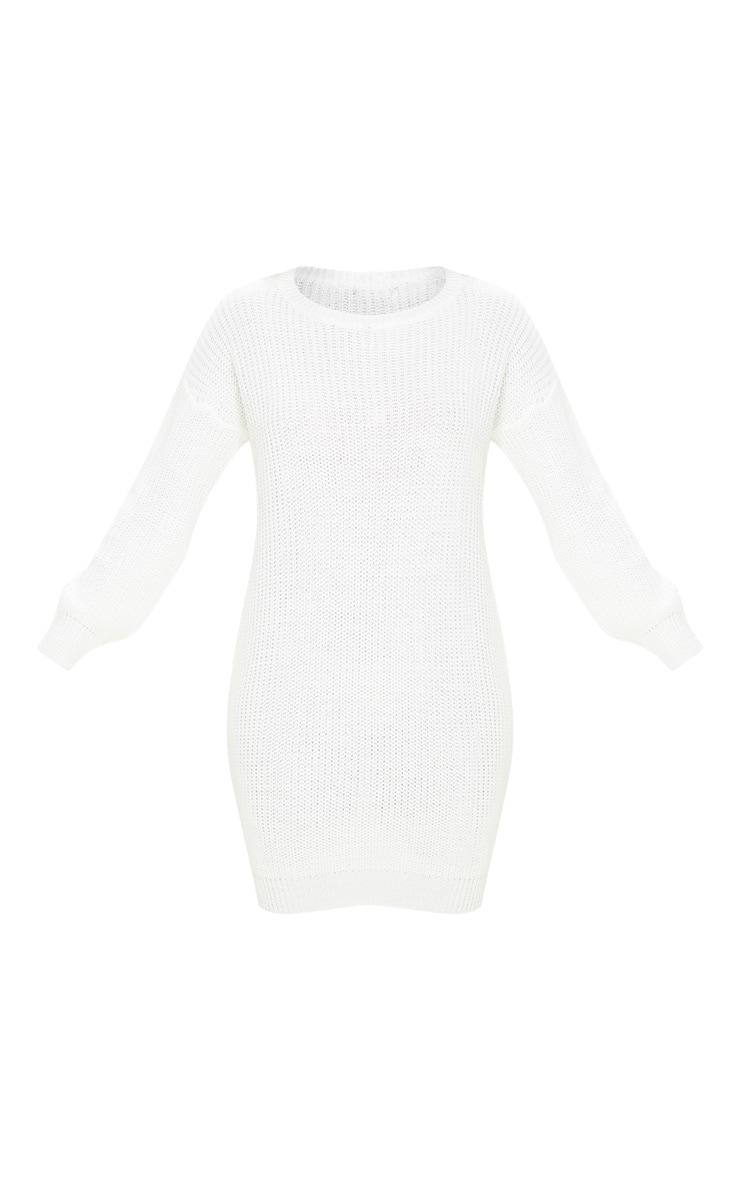 Ivory Basic Knit Sweater Dress 3