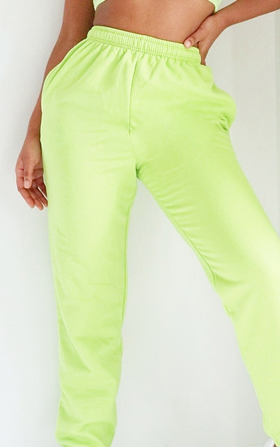 Bright Green Casual Joggers 4