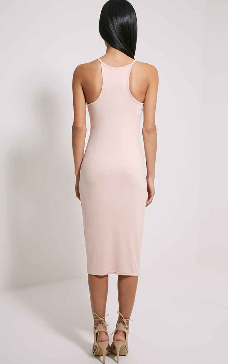 Basic Nude Midi Dress 2