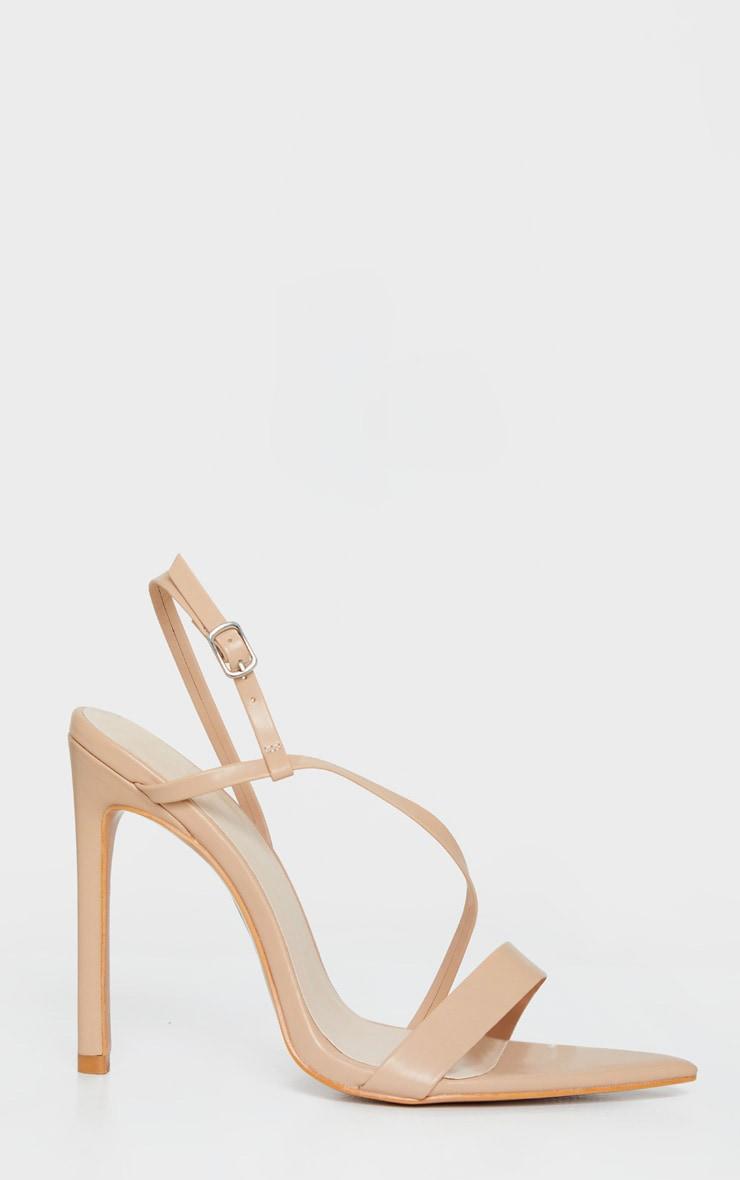 Sandales nude à brides asymétriques et bout pointu 4