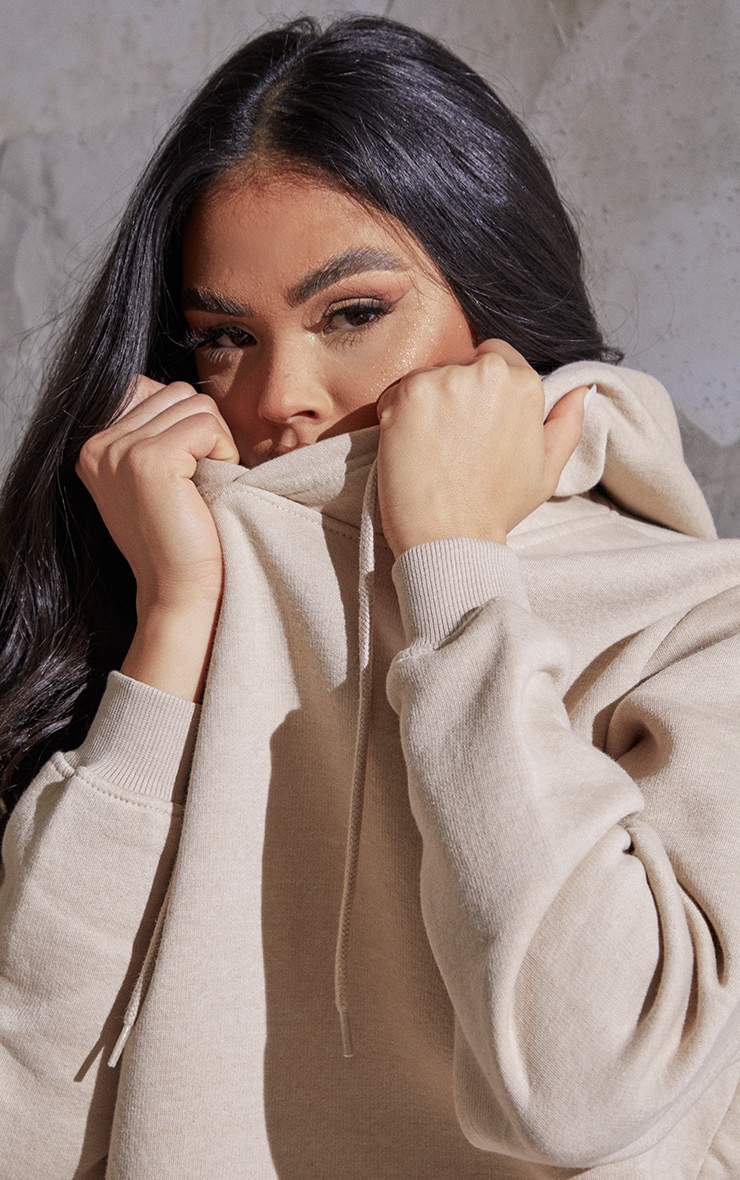 Recycled Sand Oversized Sweat Hoodie 4