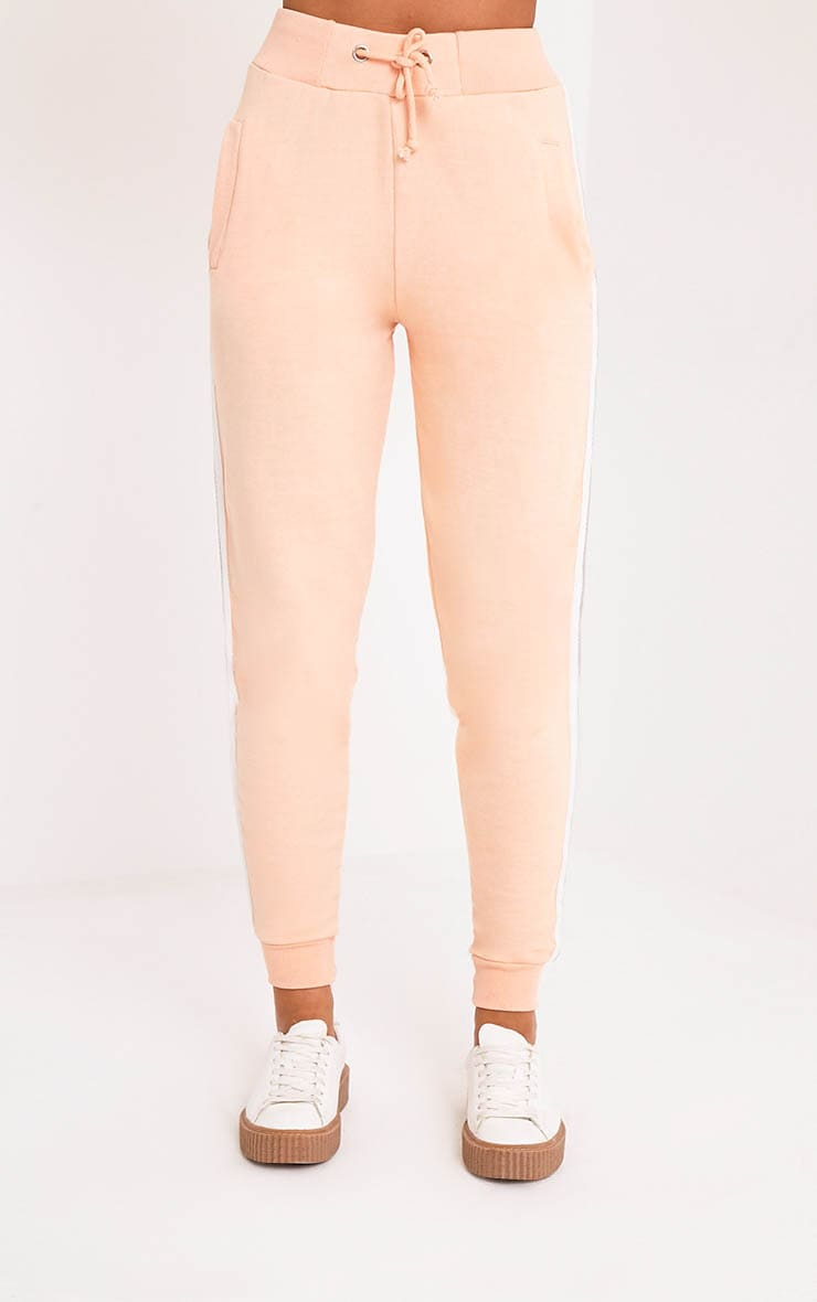 Gwen Nude Side Stripe Joggers 2