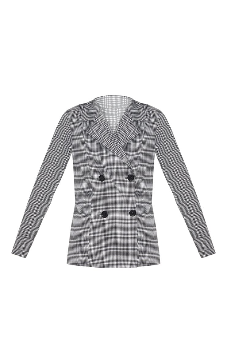 Black Checked Blazer 3