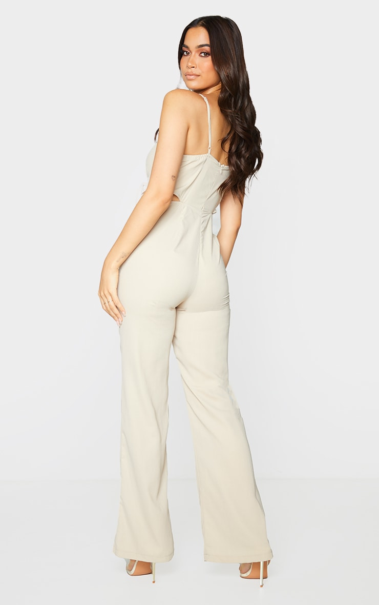 Stone Cut Out Tie Detail Strappy Jumpsuit 2