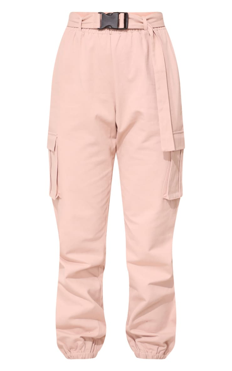 Plus Nude Utility Buckle Belt Joggers 3