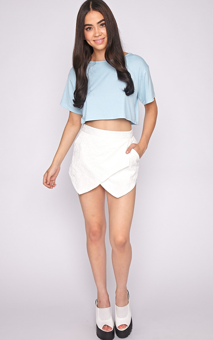 Lucille Blue Boyfriend Crop Top 3